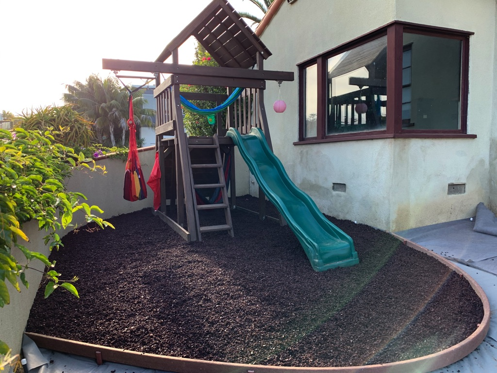 Broward County Safety Surfacing-Bonded Rubber Mulch